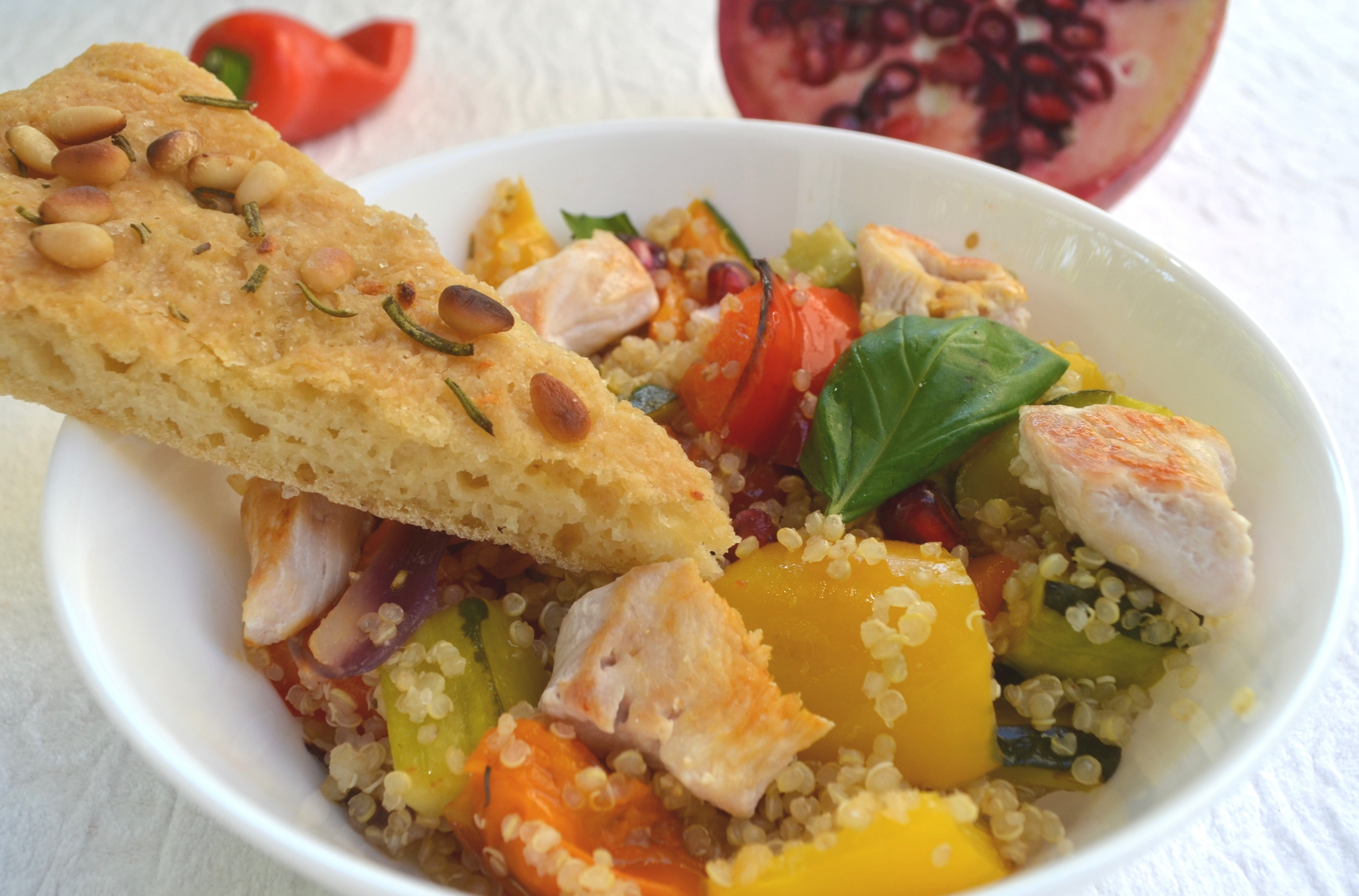 Mediterranean Quinoa Salad with Roasted Vegetables and Pomegranate 6