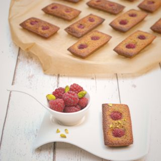 Raspberry Pistachio Financiers