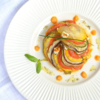 Provençal Vegetable Tian With Goat Cheese And Paprika Sauce