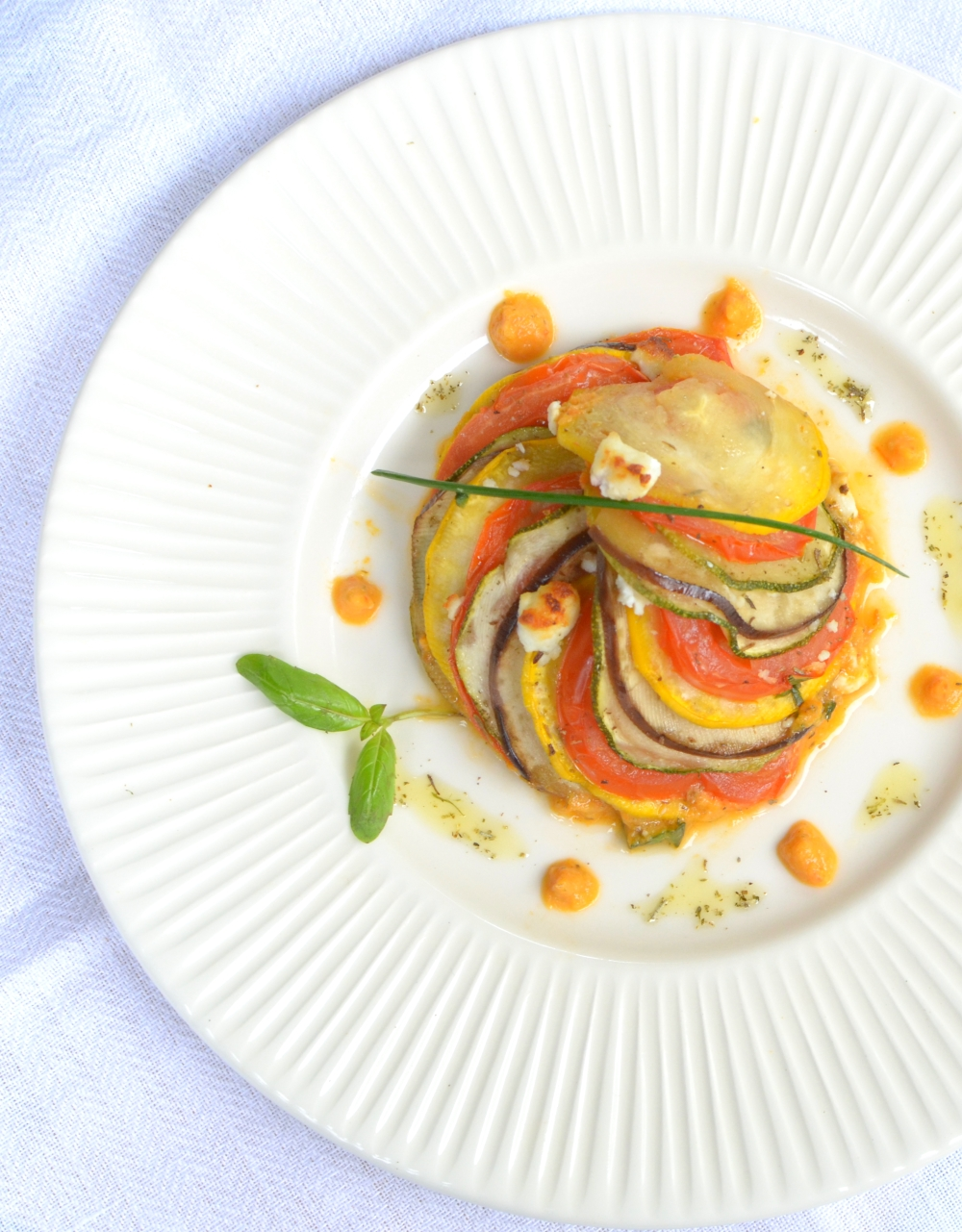 Provencal-Vegetables-Tian-With-Goat-Cheese-And-Paprika-Sauce-12b