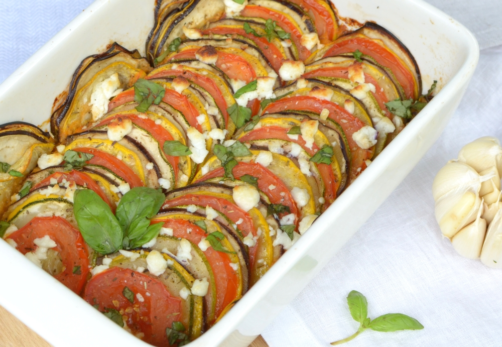 Provencal-Vegetables-Tian-With-Goat-Cheese-And-Paprika-Sauce