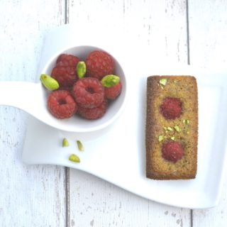 Mini Raspberry Pistachio Financiers