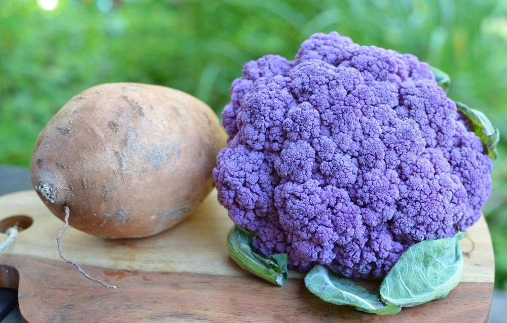 roasted-purple-cauliflower-sweet-potato-with-tahini-lime-sauce