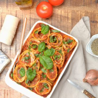Lasagna Roll Ups With Mediterranean Vegetables And Bechamel