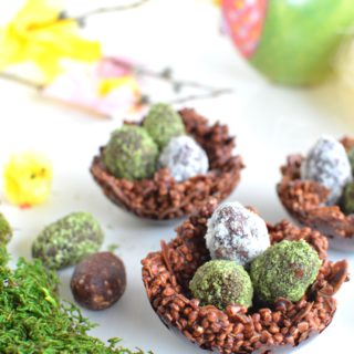 Chocolate Quinoa Nests & Easter Egg Energy Balls {Vegan}