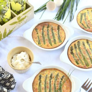 Green Asparagus and Ricotta Clafoutis