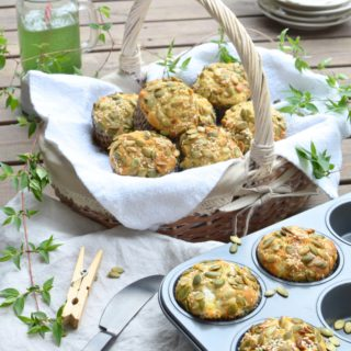 Savoury Picnic Muffins With Goat Cheese, Dry Figs And Rosemary
