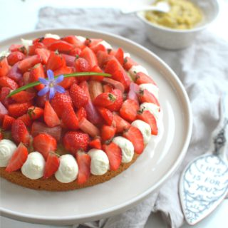 Rhubarb And Strawberry Tart on Sablé Breton Shortbread