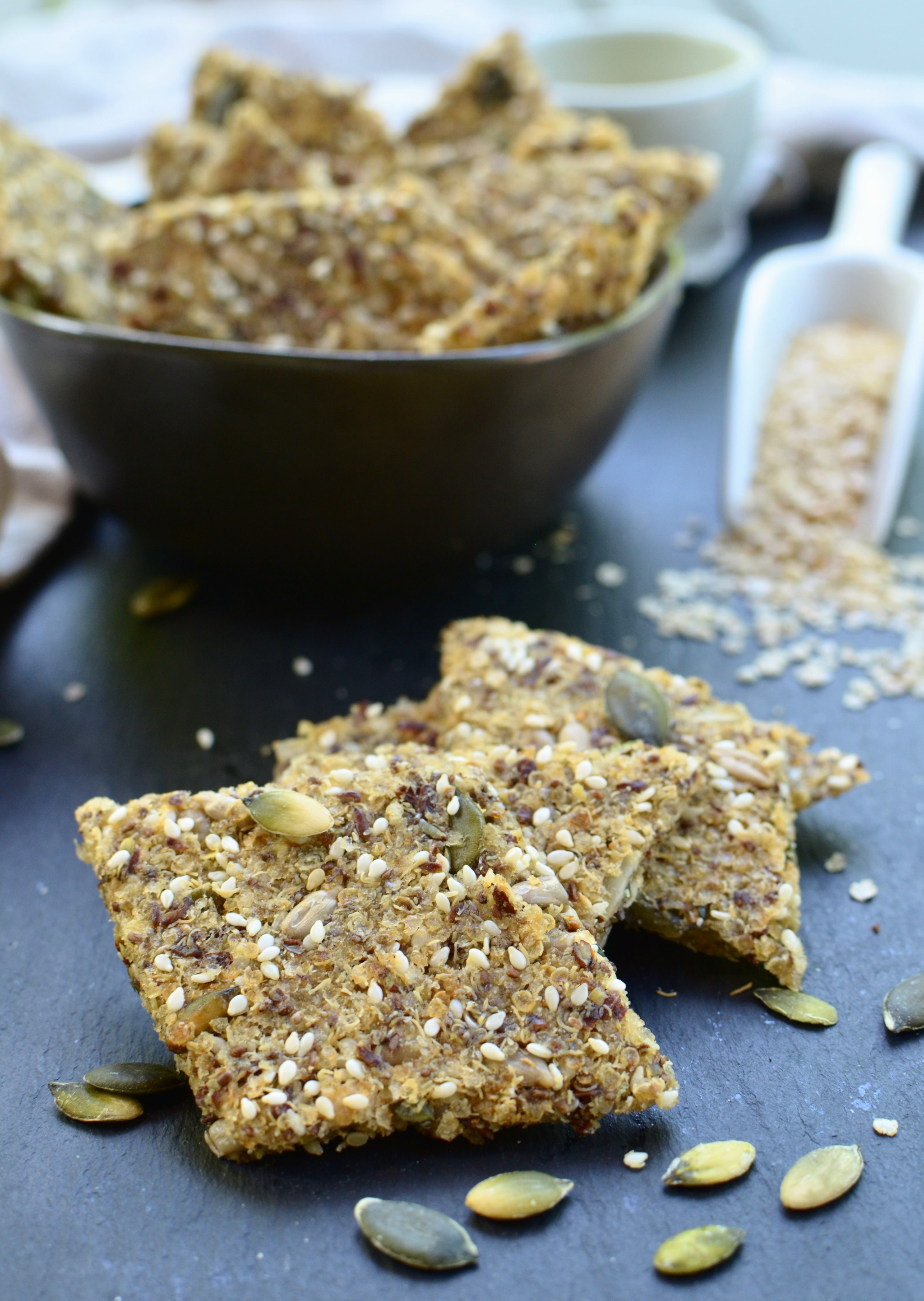 Quinoa Flakes And Multi Seeds Crackers {Gluten Free ...