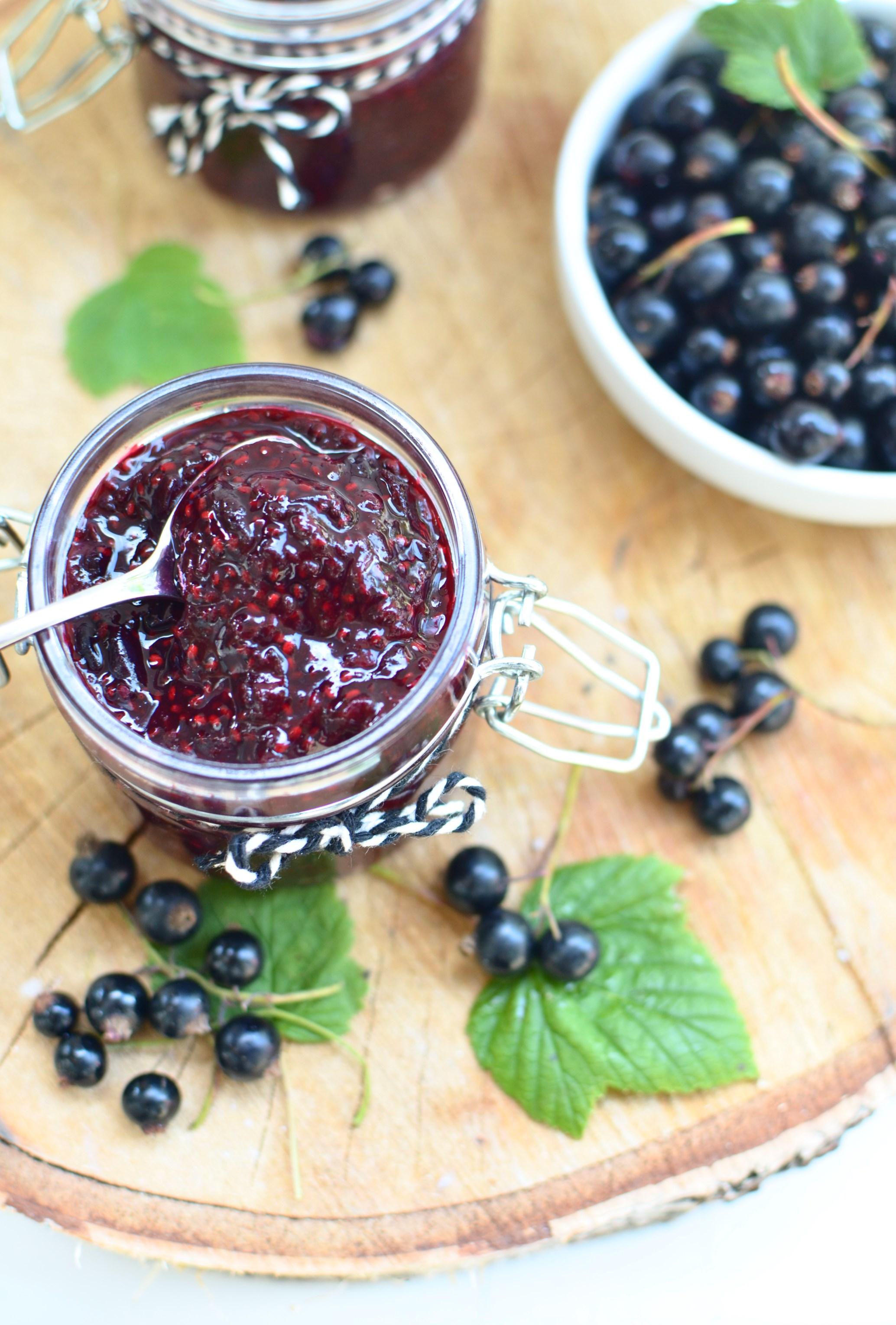 Black Currant & Gooseberry Chia jam