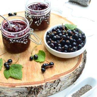 Black Currant And Gooseberry Chia Jam {Sugar Free}