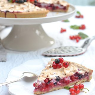 Red And Black Currant Meringue Pie