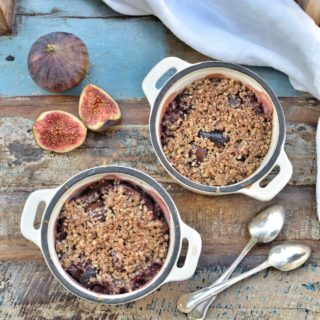 Fig Crumble With Quinoa-Hazelnut Topping