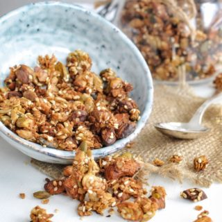 Savory Garam Masala Granola With Cashew Nuts And Pistachios