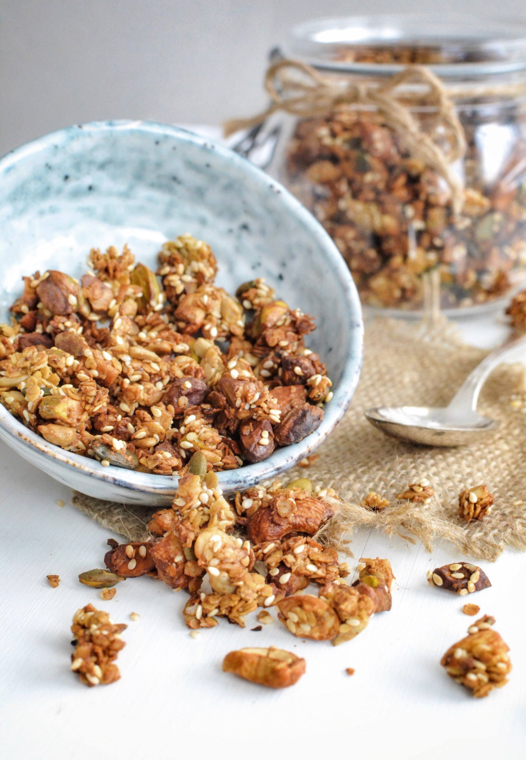 Savory Garam Masala Granola With Pistachio And Cashew Nuts Gluten Free