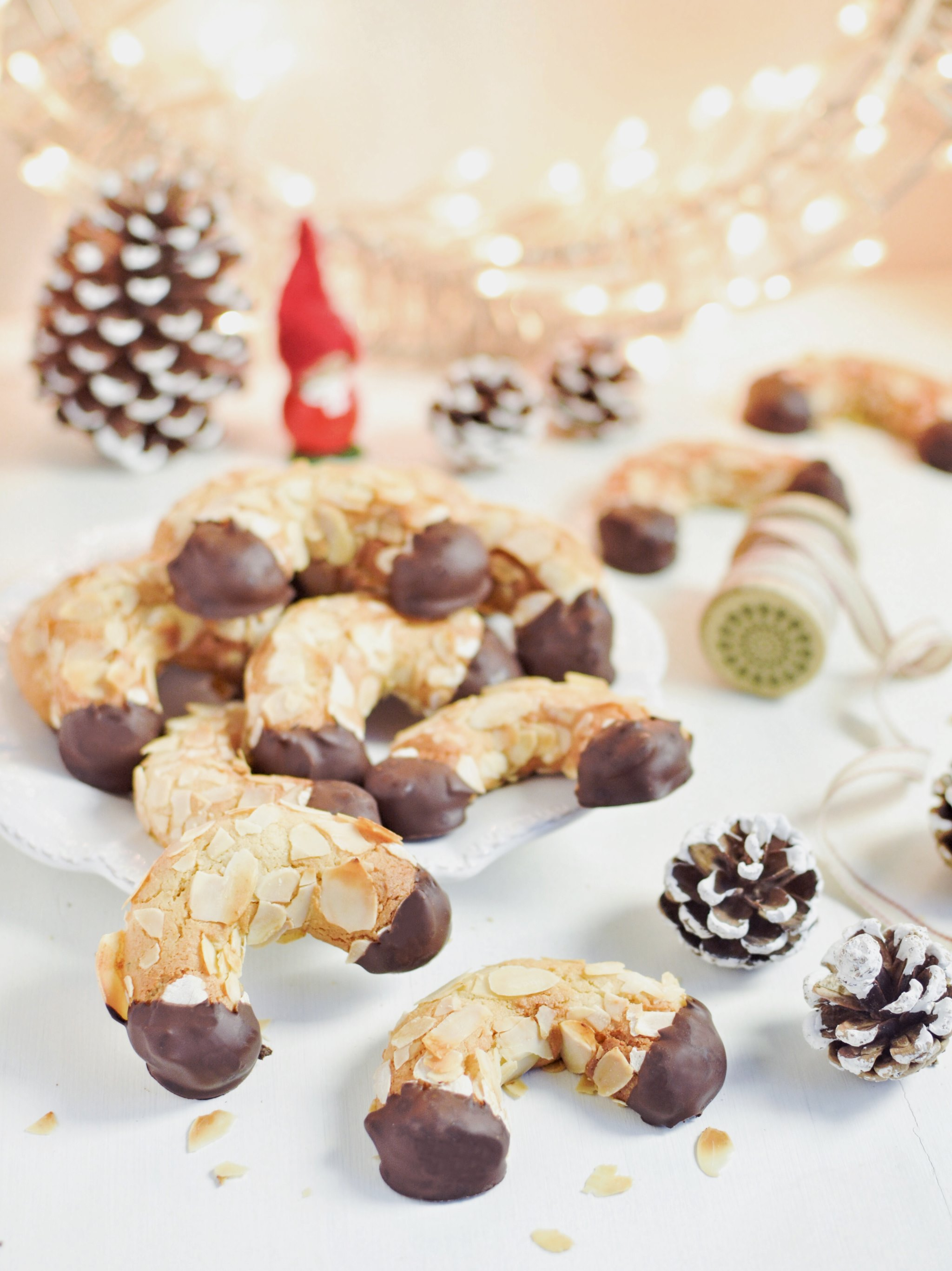 Gluten free almond horns cookies mandelhörnchen