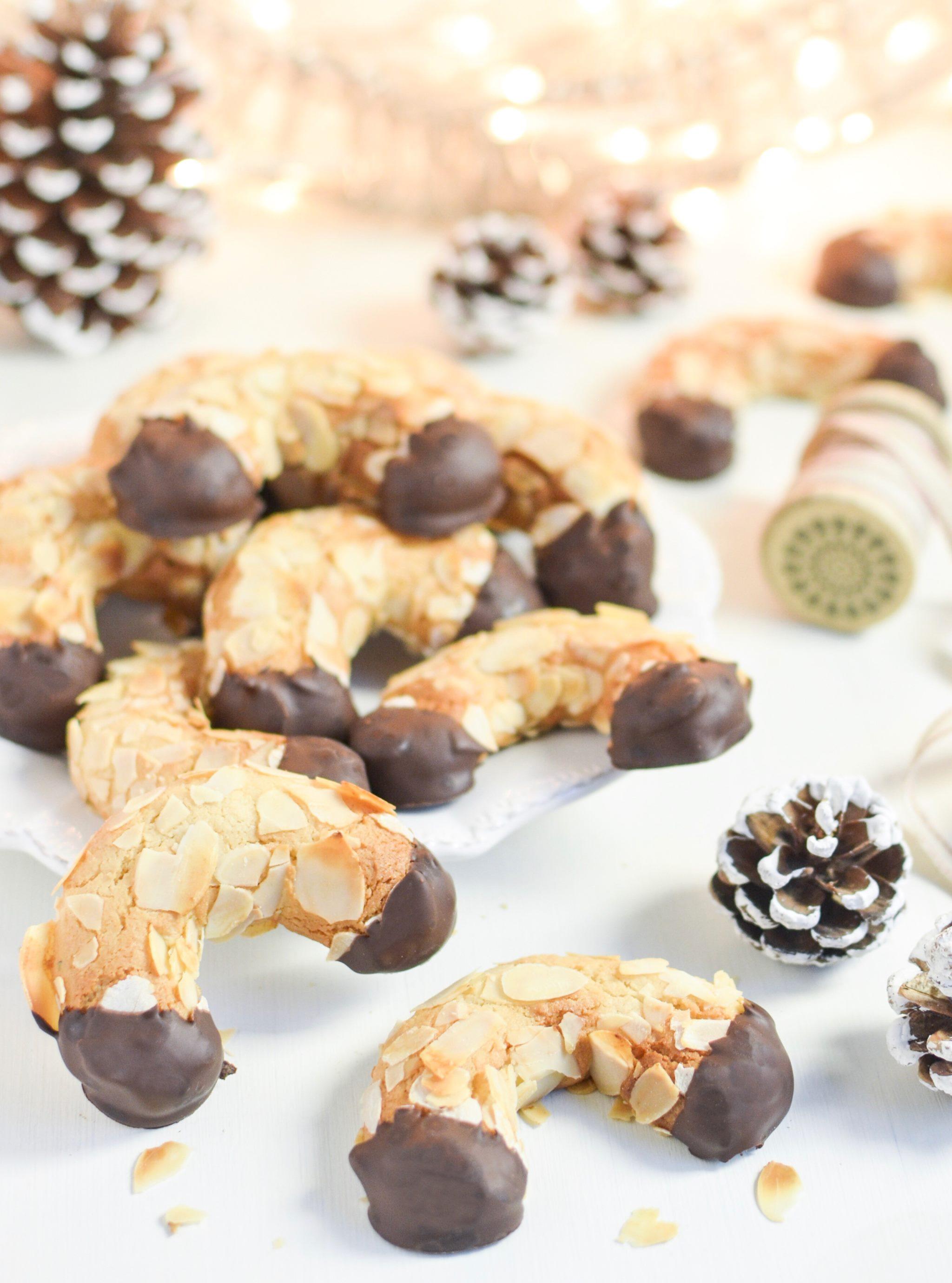 Gluten free almond horns mandelhörnchen