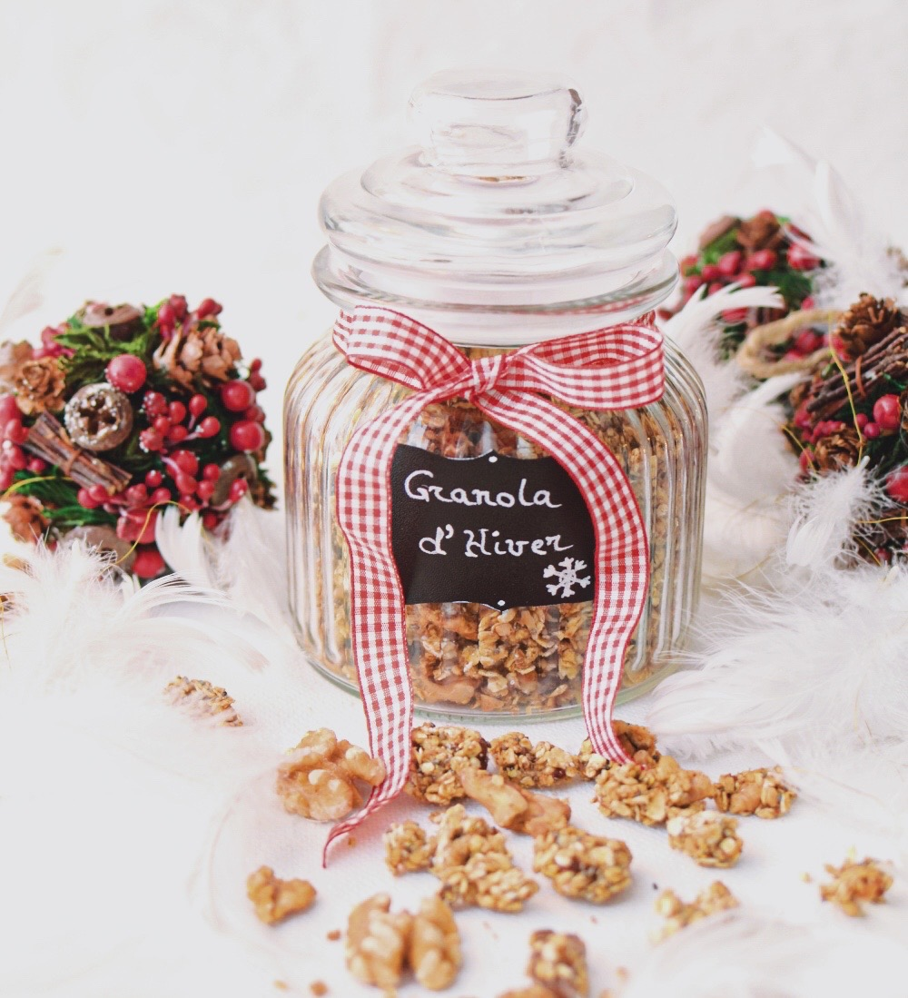 Gluten Free Granola with Walnuts, Figs, Chia Seeds