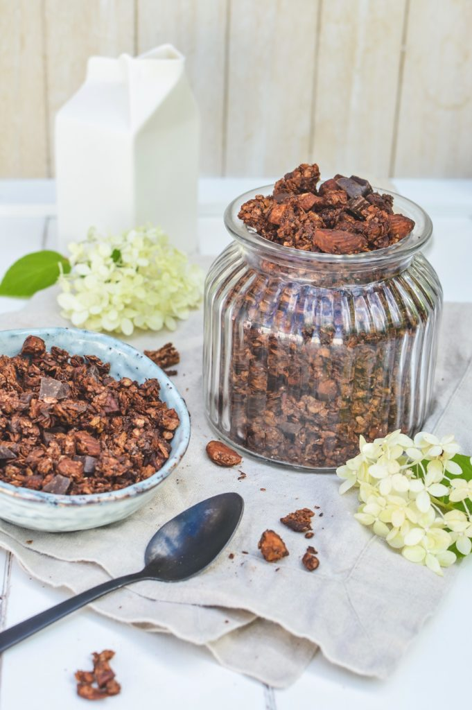 Dark chocolate almond granola gluten free